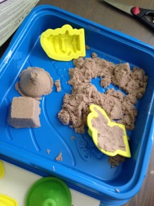Kinetic sand - this stuff is so much fun. Even Mom and Dad love to play with it.