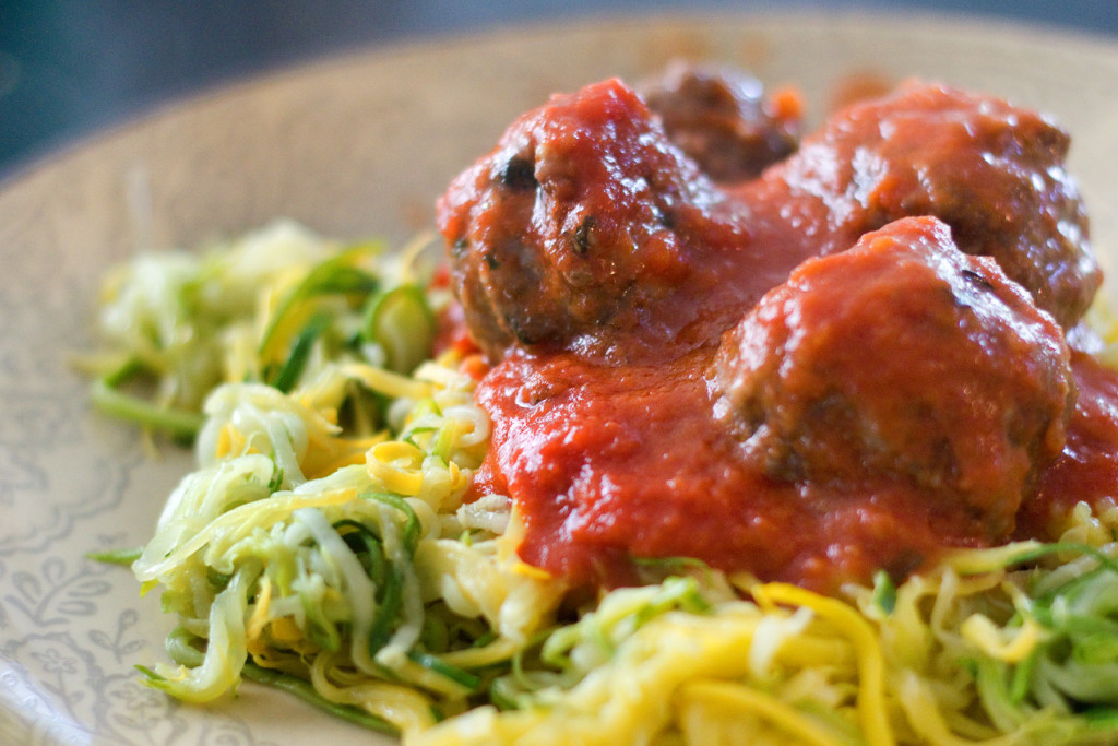 Zoodles & Meatballs